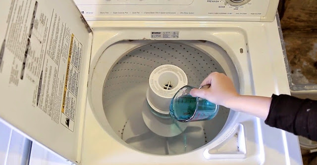 She Pours A Cup Of Mouthwash Into The Washing Machine –The Reason?