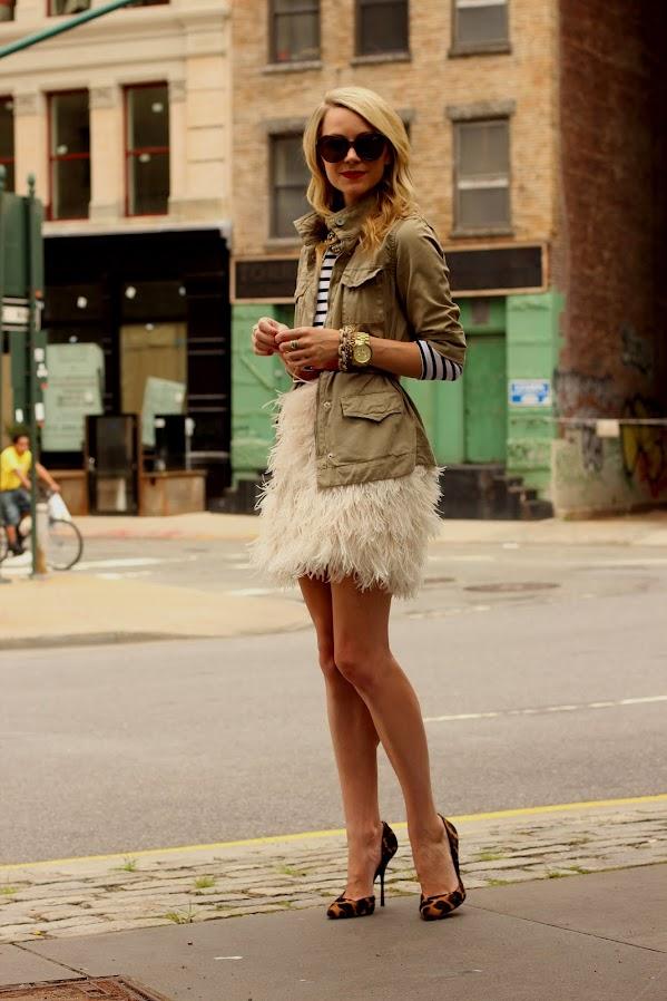 atlantic pacific feather skirt kate spade stripes utility jacket