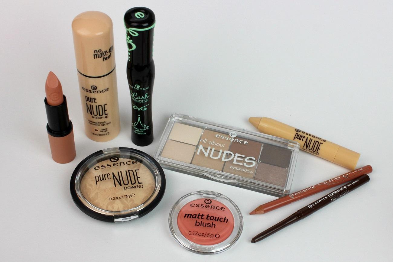 alltag, blush, drogerie, essence, kosmetik, lidschatten, lippenstift, make up, natürlich, natürlicher look, natürliches make-up, nude, nude look, palette, review, rouge, strahlender teint, swatches, the nudes,
