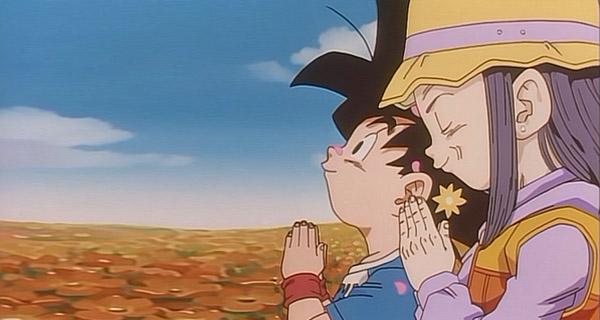 Goku y Videl en Dragon Ball GT 100 años después