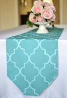 pretty new forever sweethearts teal morrocan pattern table runner
