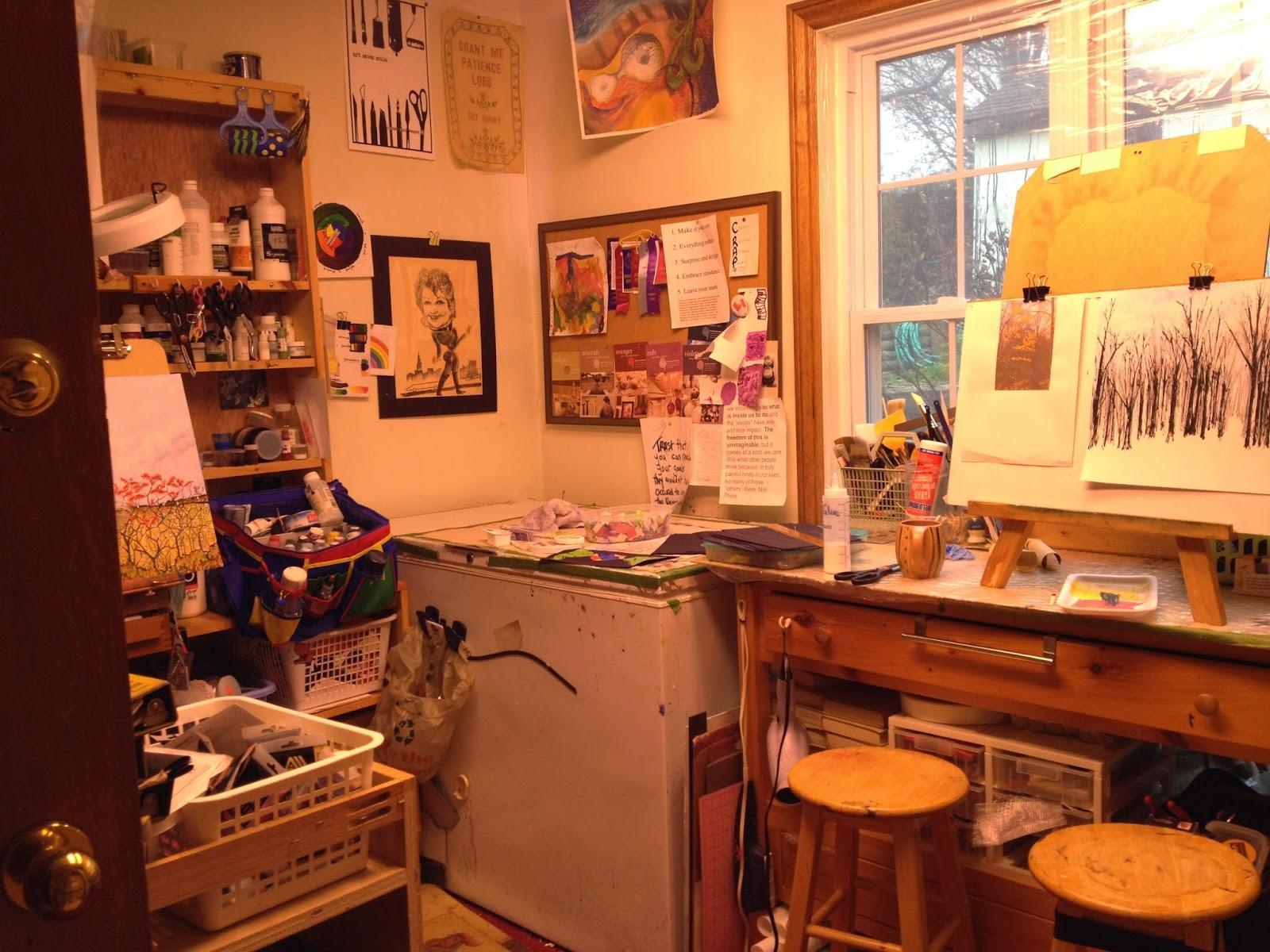 artists studio, Robin Baratta, Belmont Ontario Canada