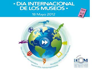 Logotipo del Día Internacional de los Museos. 18 Mayo 2012. Nuevos retos, nuevas inspiraciones.