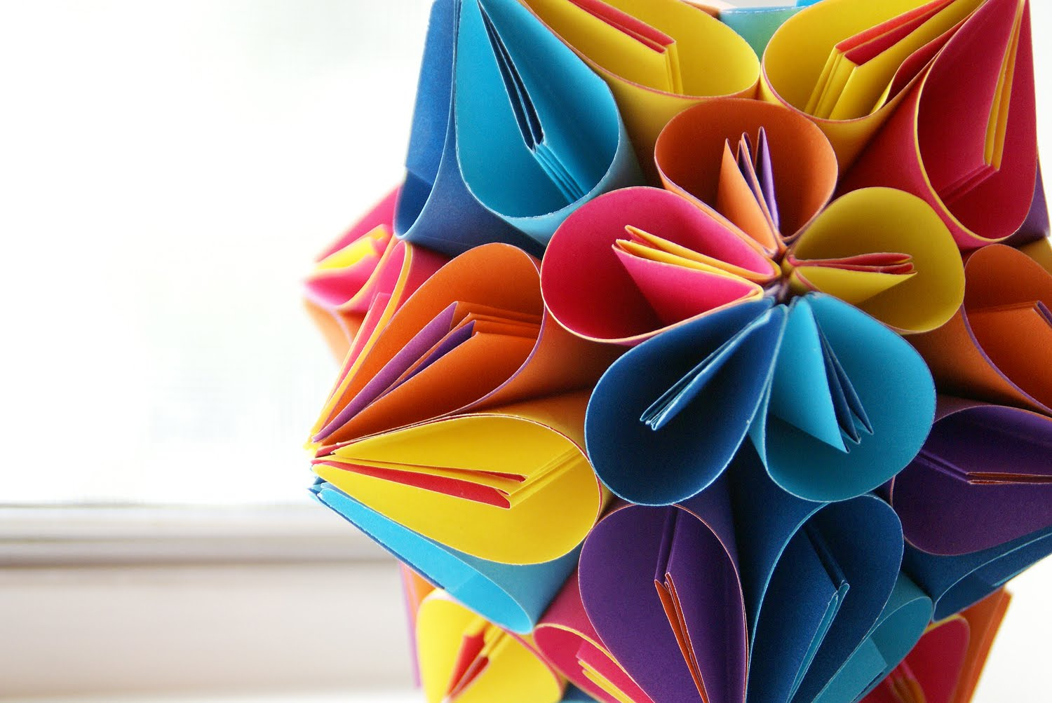 How to make origami kusudama flower step by step - Uses Of Kusudama Paper Flower Balls