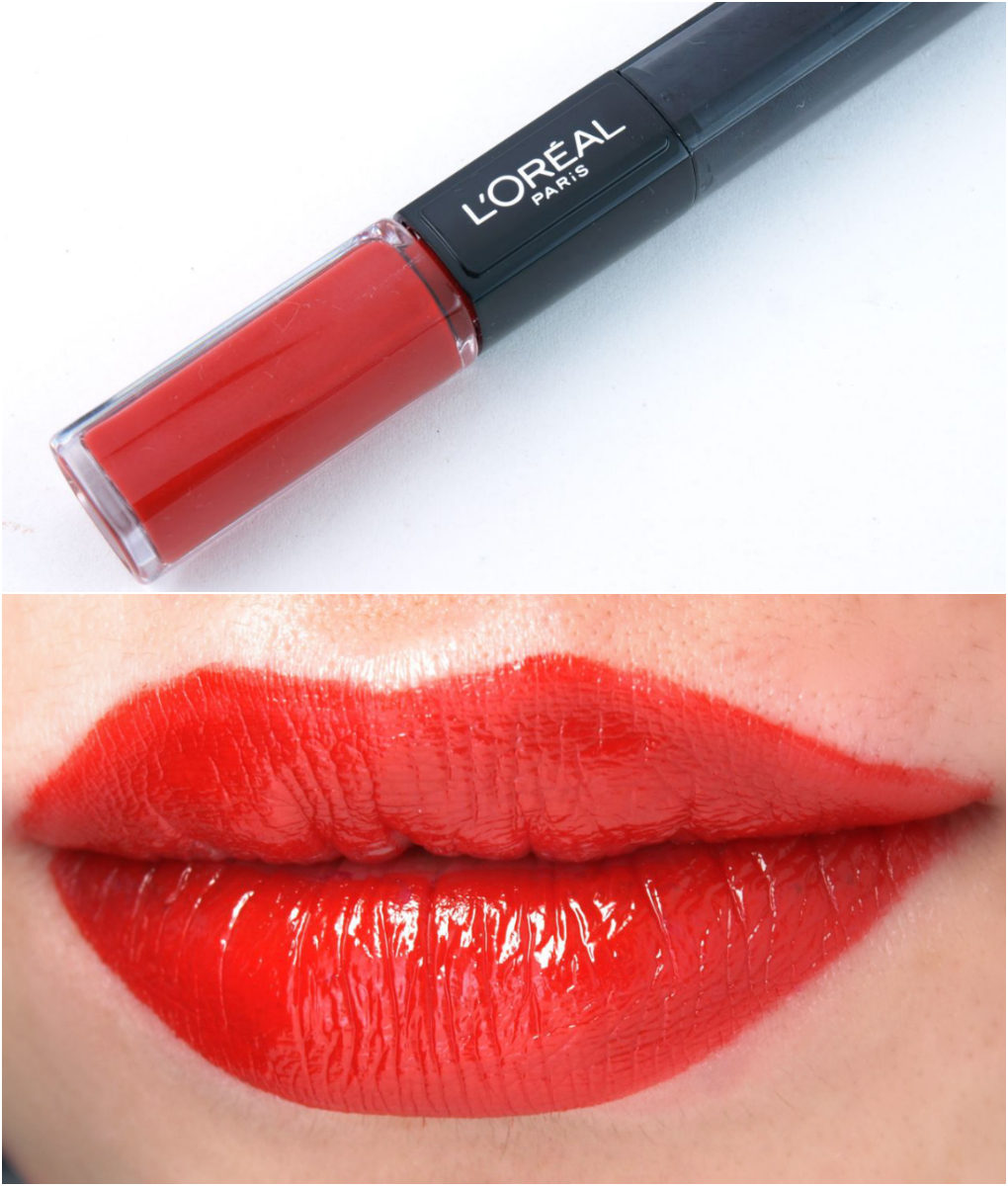 L'Oreal Infallible 2-Step Lipcolor: Review and Swatches Red Infallible