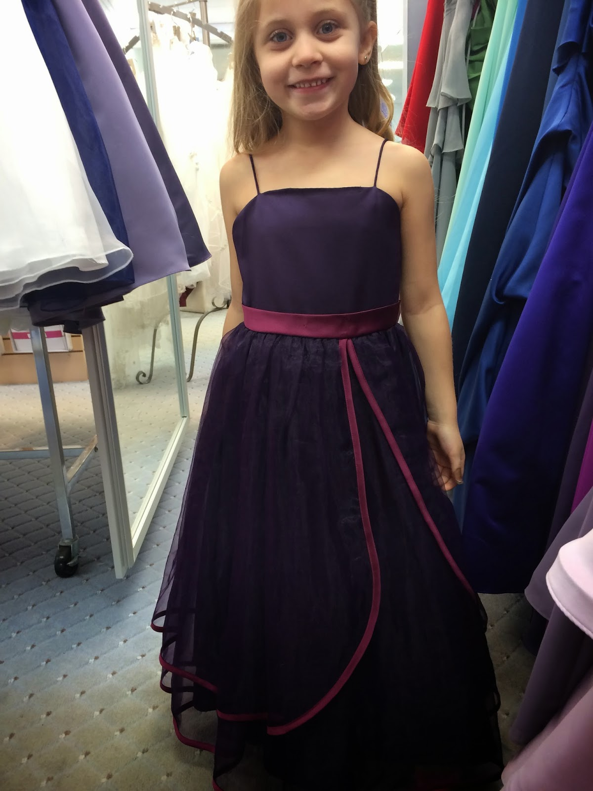 Doeblerghini Bunch:  Flower Girl Dresses - Purple Satin