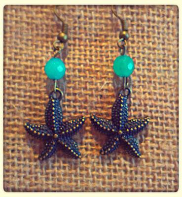 estrella mar pendientes happy uky agatas azul turquesa