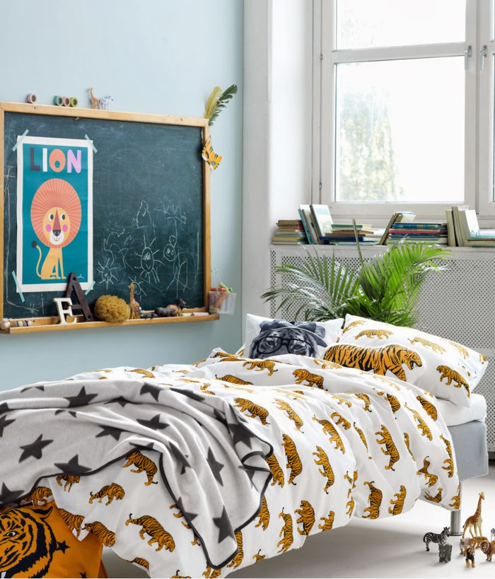 H&M Home SS14 tiger bedding for kids