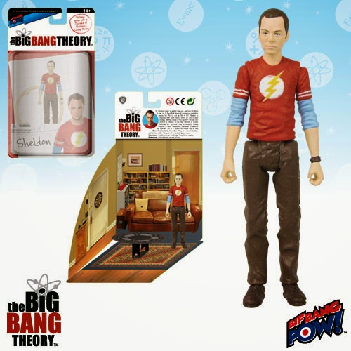 "The Big Bang Theory Series 1 3¾"" Action Figures by Bif Bang Pow! - The Flash T-Shirt Sheldon"
