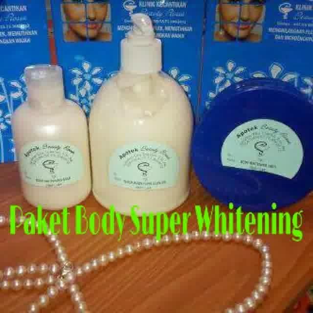 Paket Super Whitening II : Sabun Glutac + Body Whitening Gold (Malam Hari) + Body Whitening 100% (Pagi Hari)