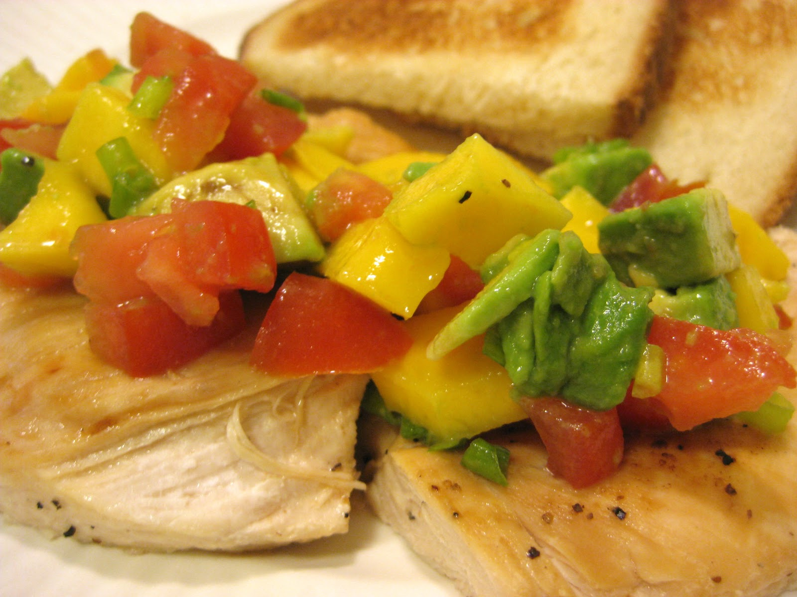 Mangoes & Lemons: Grilled Chicken with Mango Avocado Salsa