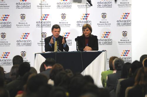 Juan Manuel Santos y Maria Fernanda Campo