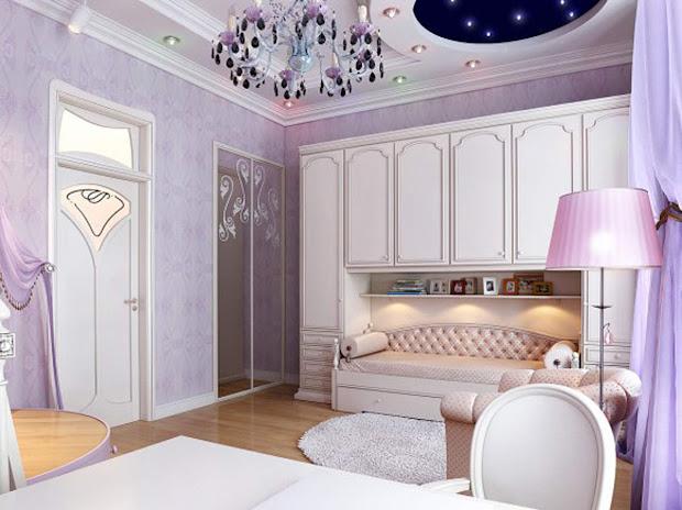 Purple Girls Bedroom Decorating Ideas