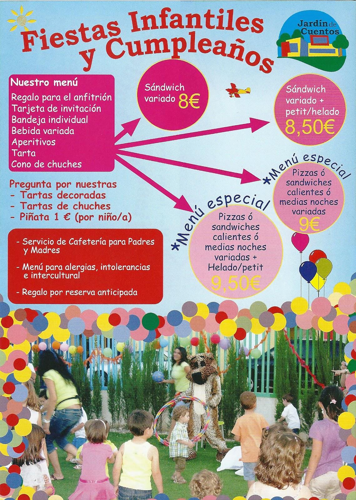 Jardin decuentos fiestas infantiles y cumplea os - Fiesta de cumpleanos infantil ...