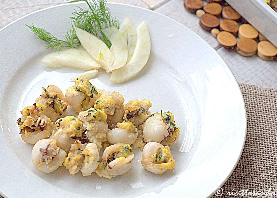 Seppioline ripiene al forno ricetta di antipasto di pesce