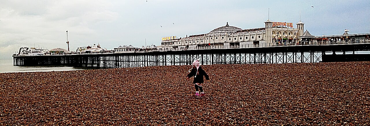 exploring Brighton beach