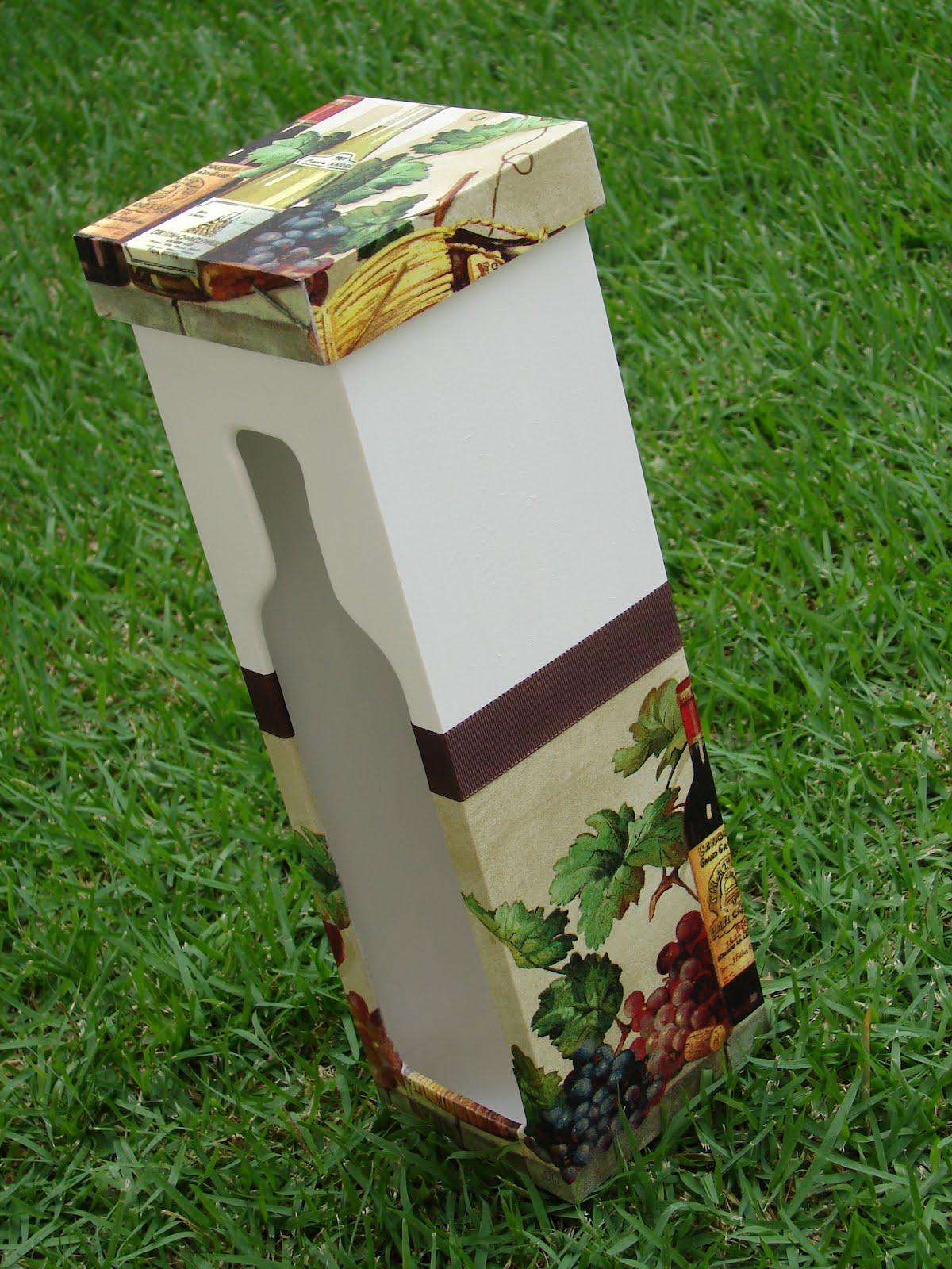 Bell'Arte Arte em madeira e tecido: Caixa para Vinho #3F6721 1200x1600