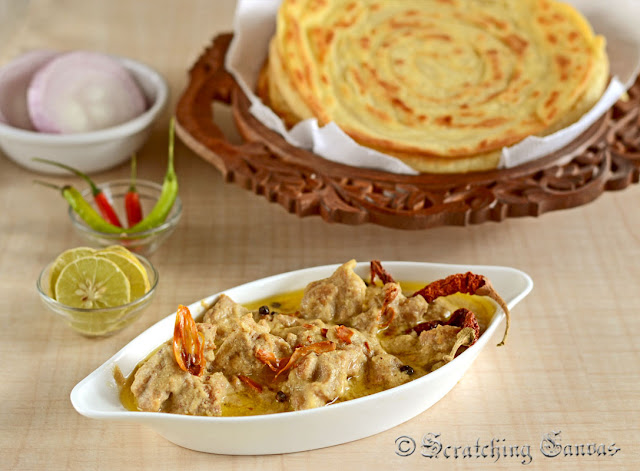 Mutton Rezala with Lachha paratha