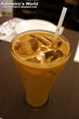Iced Milk Tea at Oliva Bistro Cafe