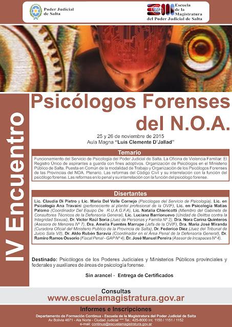 IV Encuentro de Psicólogos Forenses del NOA