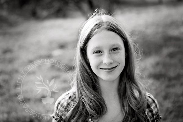 Girl, Black and White Portrait