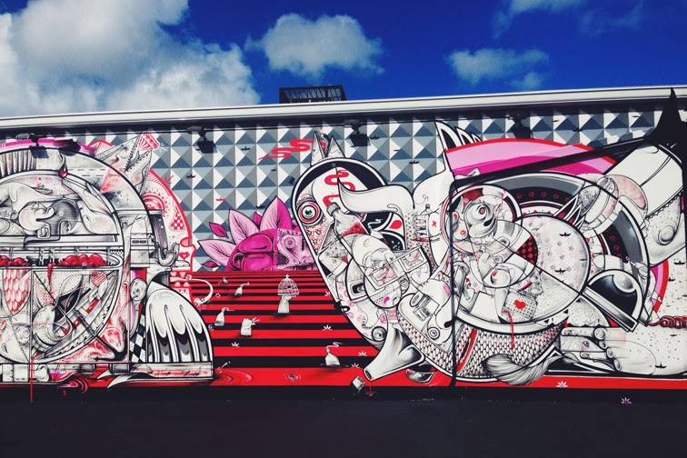 Art Basel Wynwood Walls mural by How and Nosm