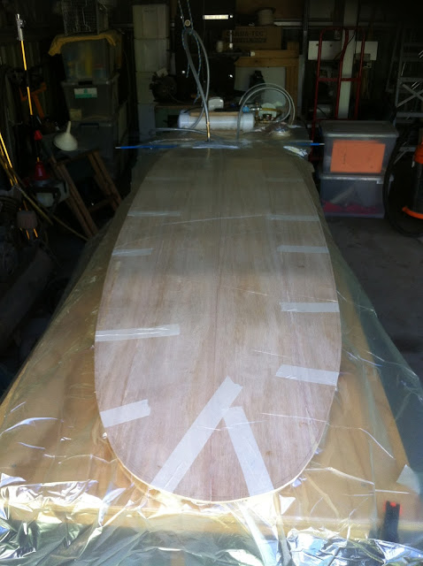 building wooden surfboards