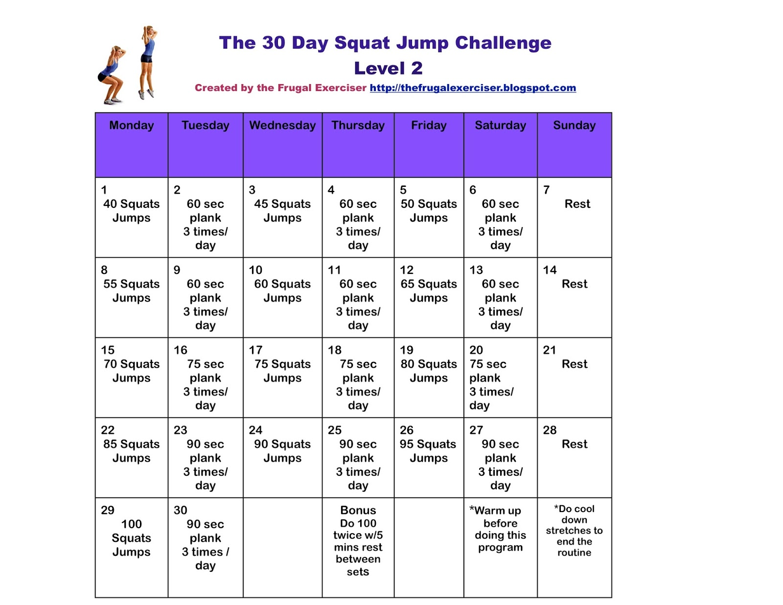 The 30 Day Squat Jump Challenge The Frugal Exerciser