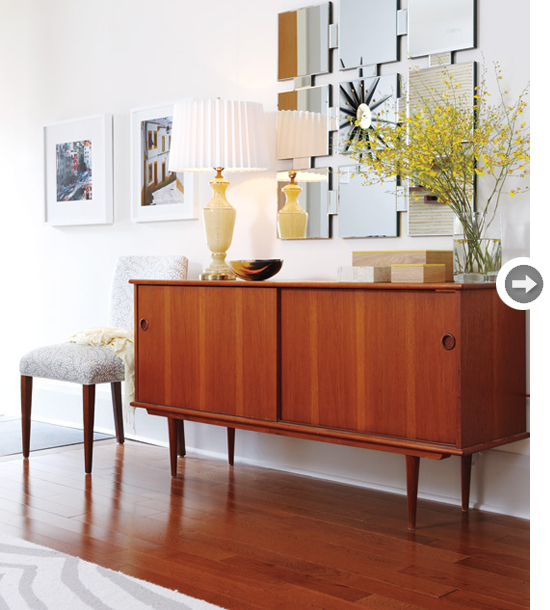 sarah richardson via style at home - Dining Room Sideboard Decorating Ideas