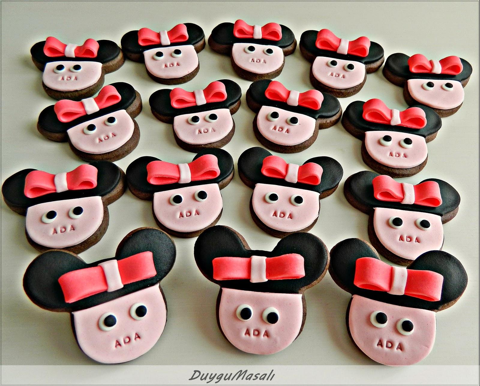 minnie mouse kurabiyeleri