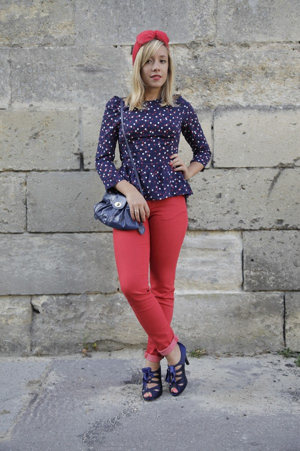 Look printemps rouge bleu