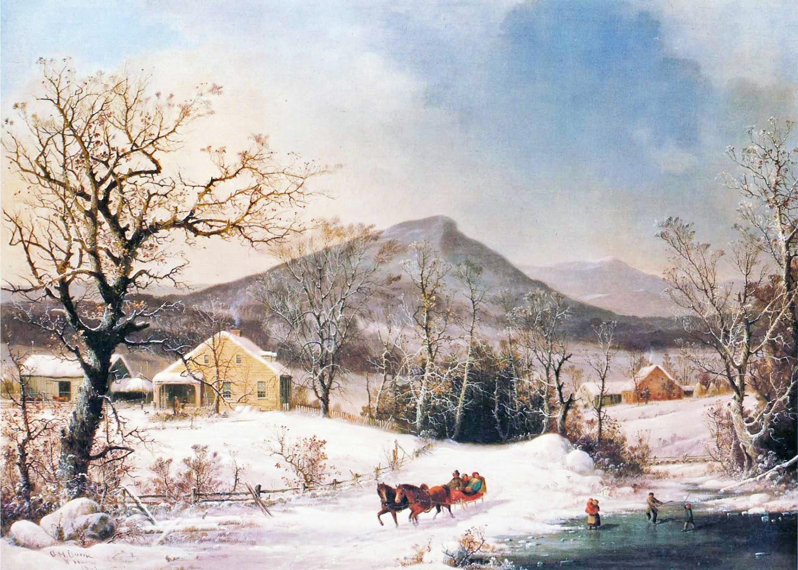 19th century american paintings george henry durrie ctd