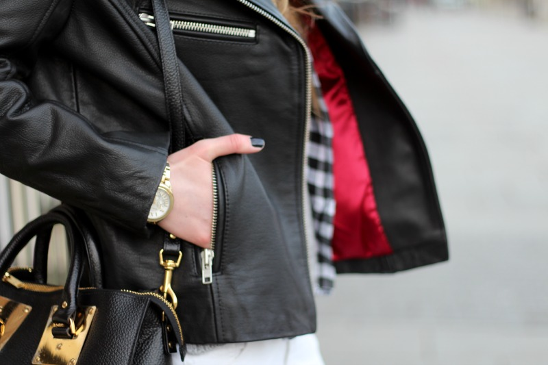 leather jacket, sophie hulme bag