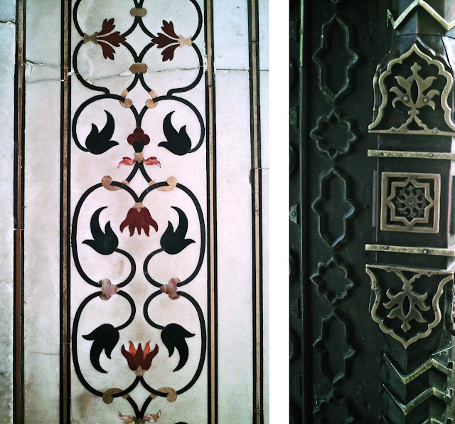 close-ups of taj designs
