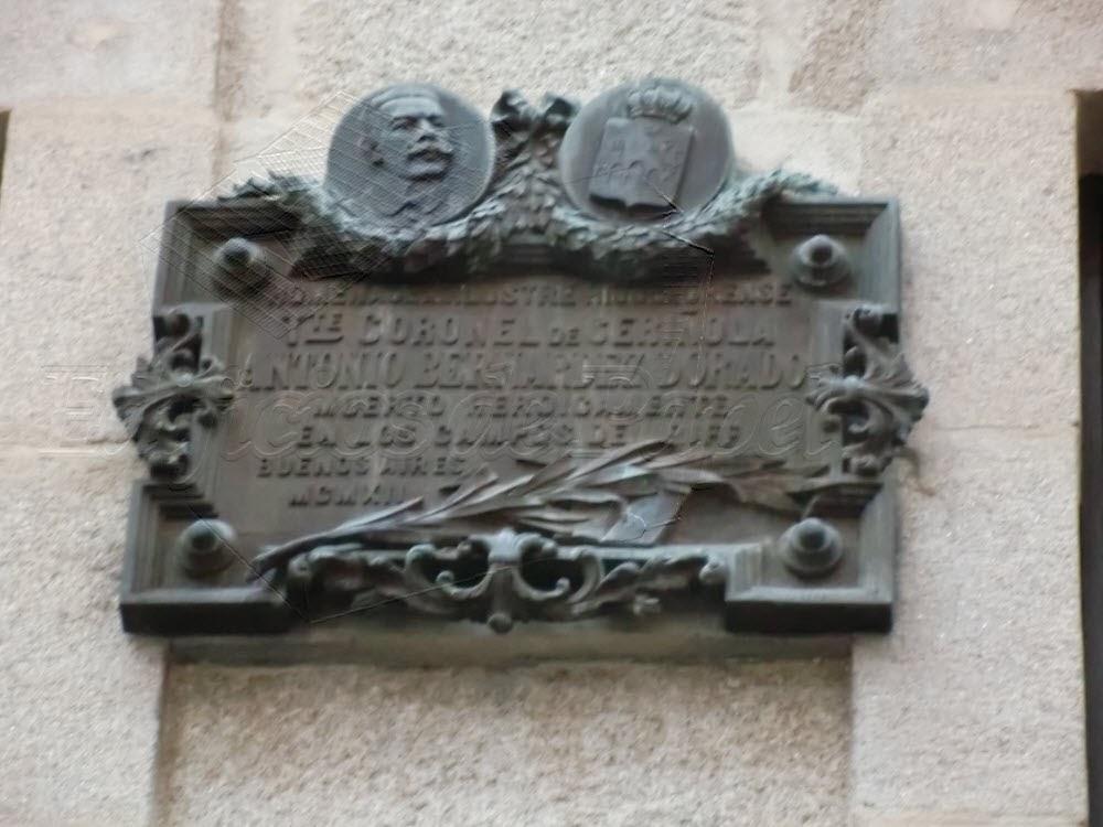 Commemorative plaque in Ourense (Galicia, Spain)