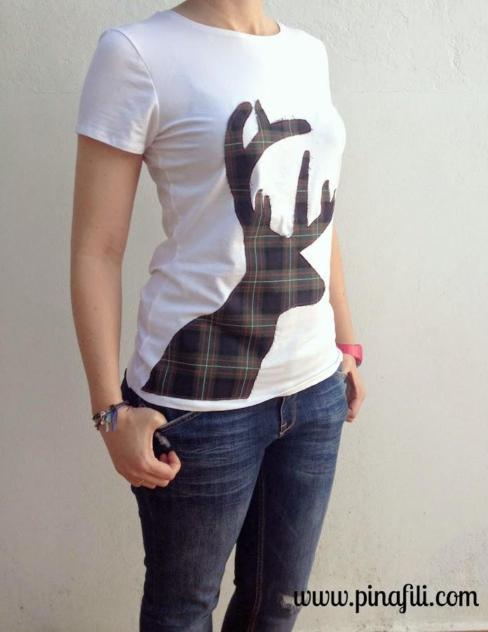 Customiza tus camisetas con la silueta de animales. ¡Jugamos con los estampados!