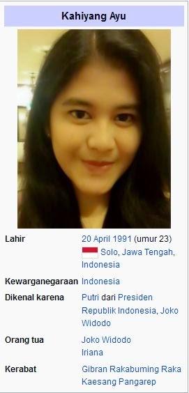 Kumpulan Foto Biodata Lengkap Kahiyang Ayu Jokowi