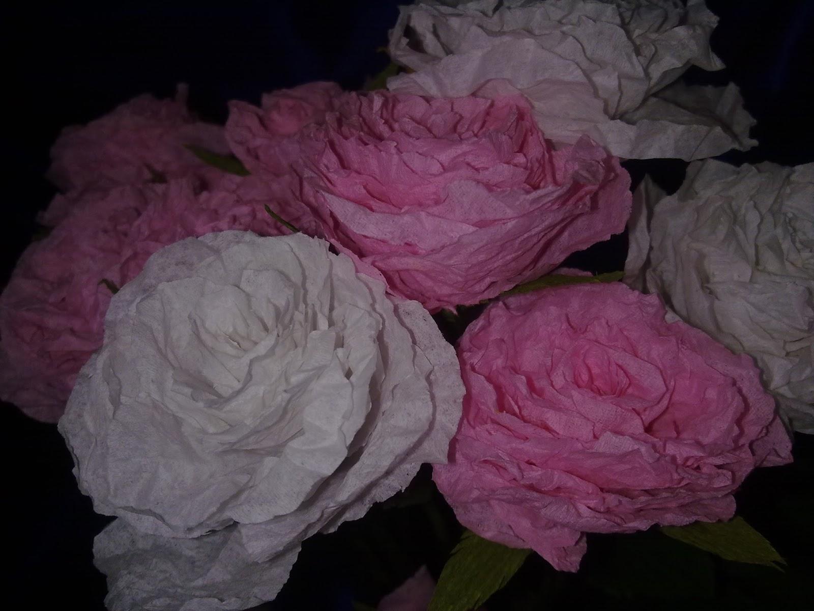 Craft Art Tissue Paper Roses Paper Roses Paper Craft