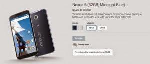Pre-order Nexus 6 Dimulai Tanggal 29 Oktober 2014