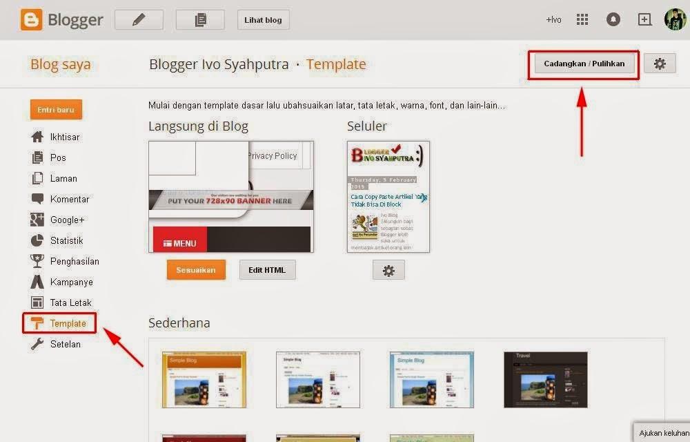 Cara Ganti Template Blog Dengan Mudah