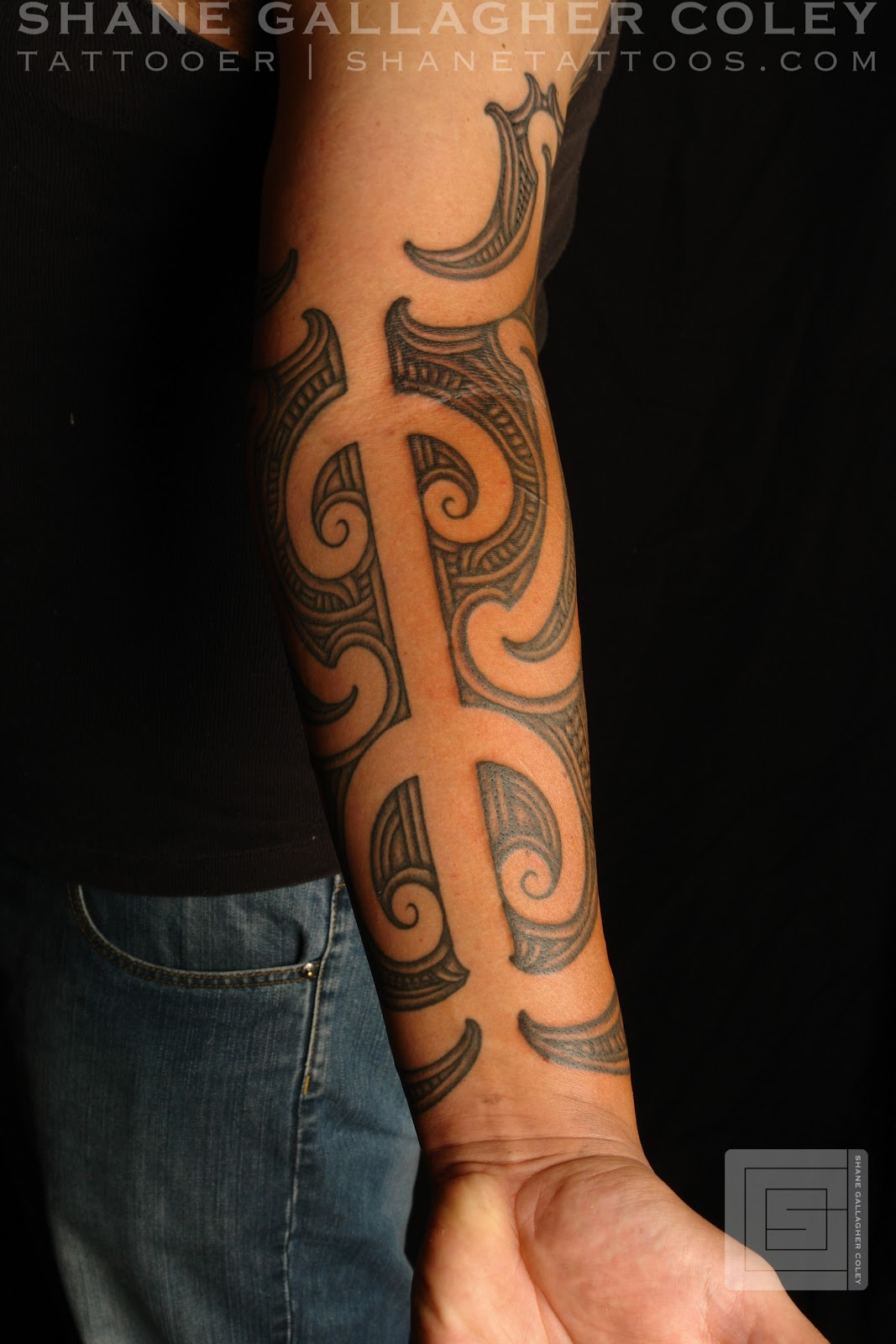 maori polynesian tattoo maori forearm sleeve. Black Bedroom Furniture Sets. Home Design Ideas