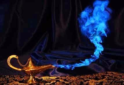 La lámpara mágica de Aladino