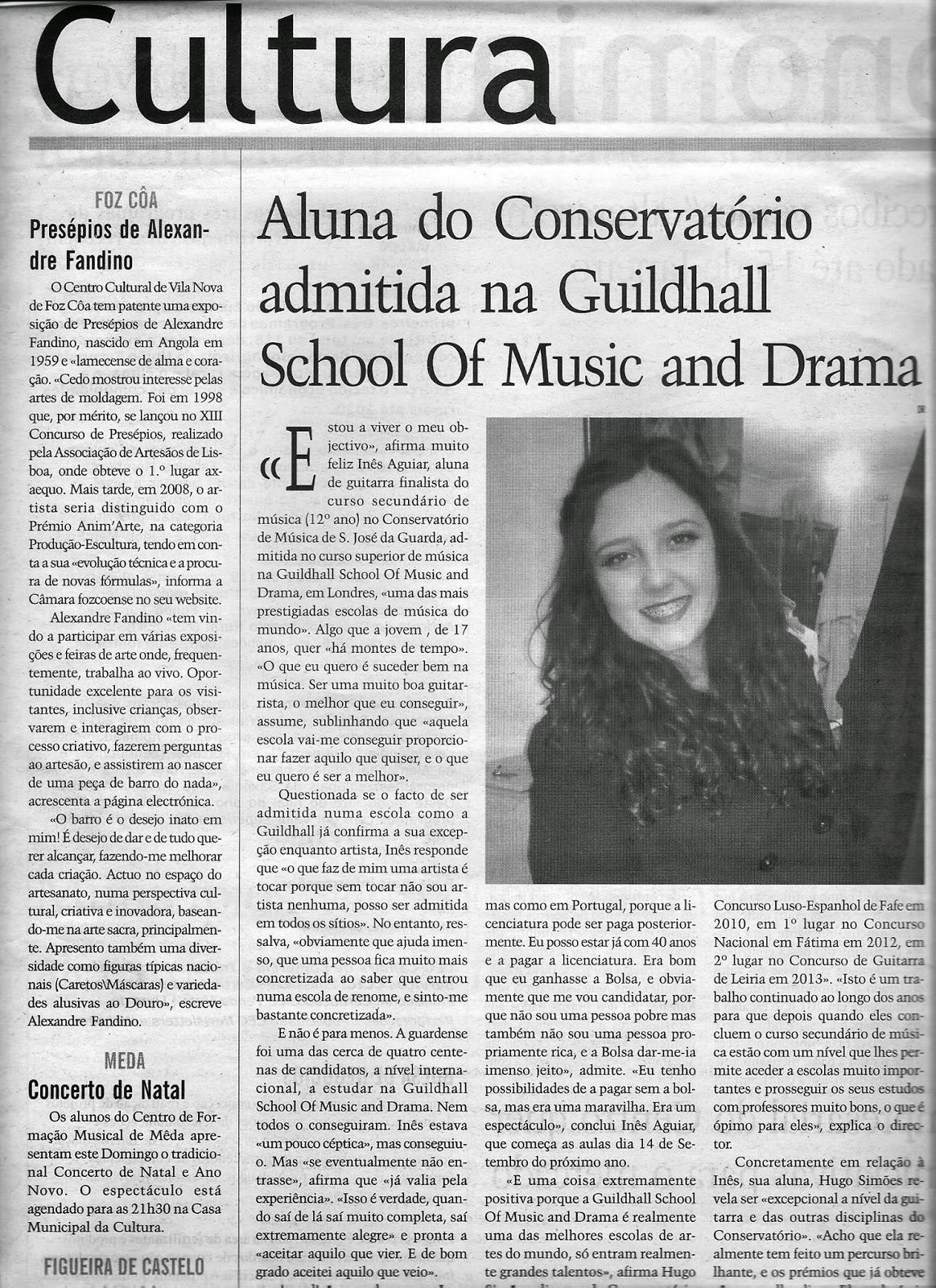 Inês Aguiar, Música, Recital Guitarra
