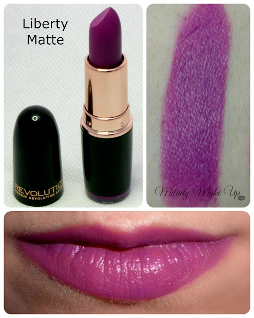 Lipstick liberty matte makeup revolution swatches