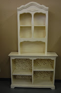 Cream Bookcase & hutch