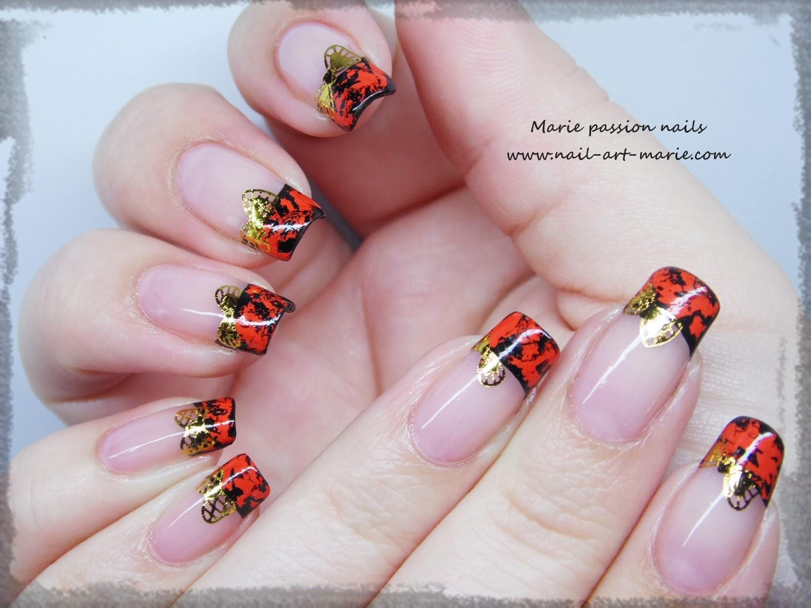 Nail Art avec craquelures de foils matte1