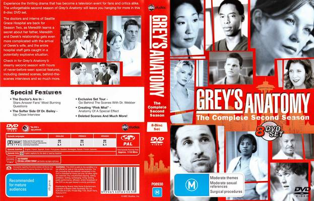 Movies Tv Series Music Greys Anatomy Tv Series Season 2 Complete