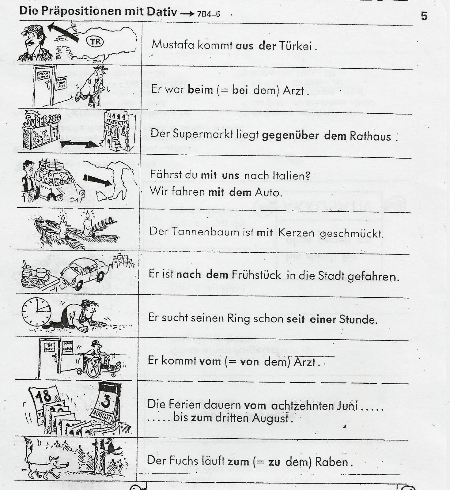 Deutsch ist sch n kommt 1 kurs pr positionen for Prapositionen mit akkusativ