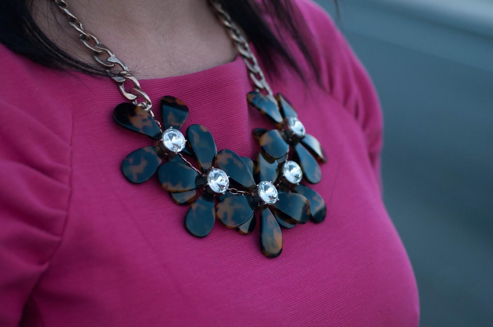 ootd, style blog, fashion blog, banana republic dress, jcrew flower necklace, pink dress, wedding wear, ootd