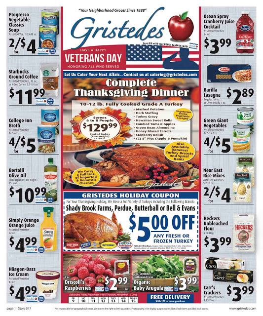 CHECK OUT ROOSEVELT ISLAND GRISTEDES Products, SALES & SPECIALS For November 9 - November 15
